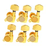1set of 6L K-803 Guitar String Tuning Pegs Tuners Machine Heads Gold
