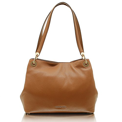 (MICHAEL Michael Kors Raven Large Shoulder Tote (Luggage))