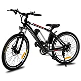 26'' Power Plus Electric Mountain Bike with Large Capacity Removable Lithium-Ion Battery (36V 250W), Battery Charger