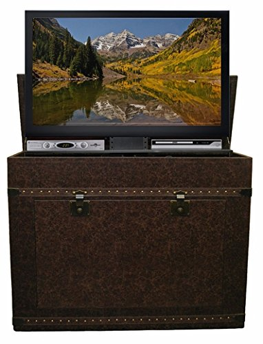 Footboard Bedroom Vintage - Touchstone 72007 - Vintage Trunk TV Lift Cabinet - TVs Up to 46 Inch Diagonal (45