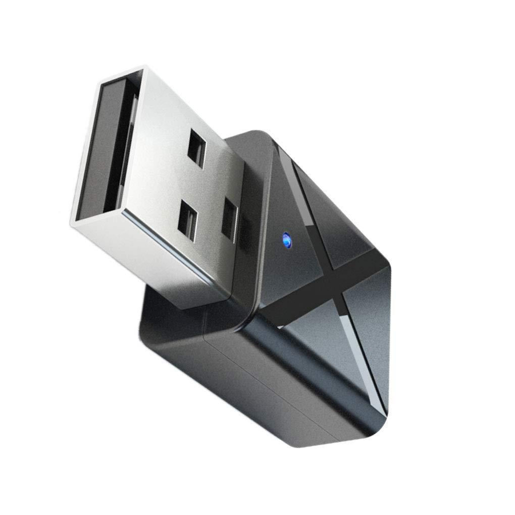 Uokoki Adaptador USB inal/ámbrico Bluetooth 5.0 Transmisor Receptor de TV Altavoz del Auricular de 3.5mm Mini AUX est/éreo
