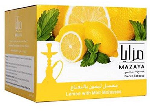 Mazaya Shisha Molasses Premium Flavors 1kg/1000g For Hookah NonTobacco (Lemon Mint)