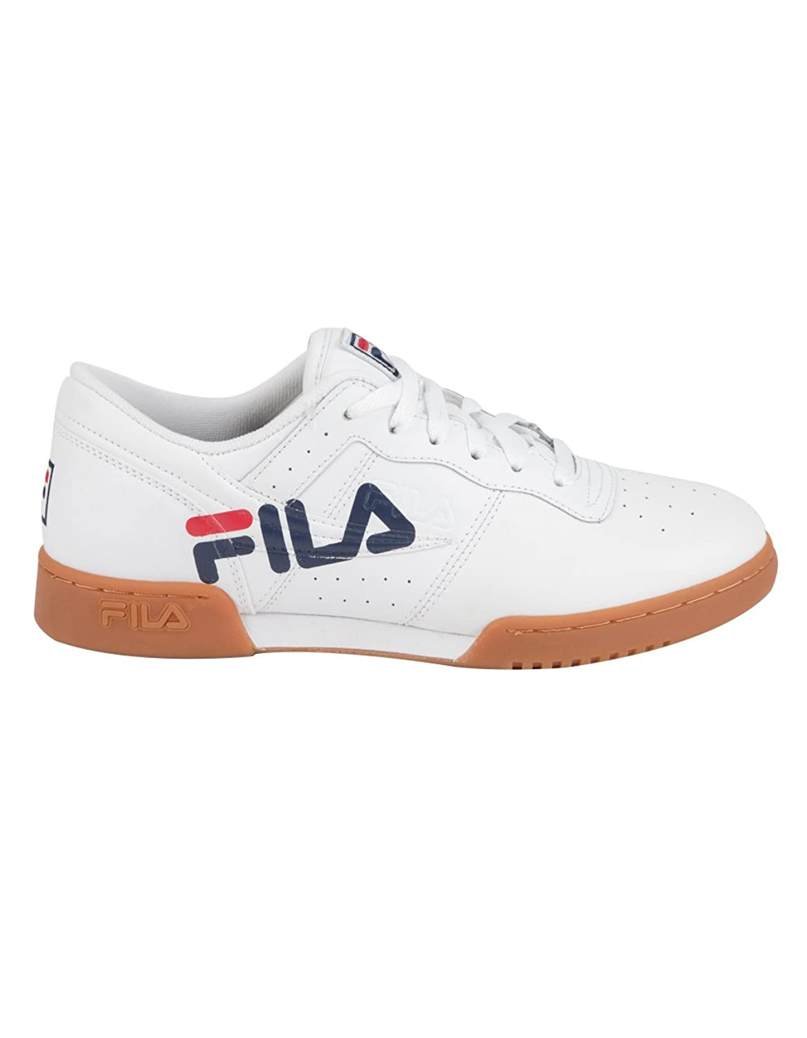 Fila Original Fitness Logo Sneakers (WH NV RD) Men's Athletic Shoes White/Fila Navy/Fila Red