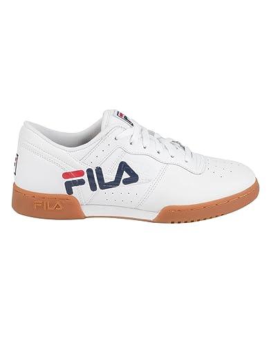 Fila Men s Original Fitness Logo White Fila Navy Fila Red 10.5 D US D 3d6e206da