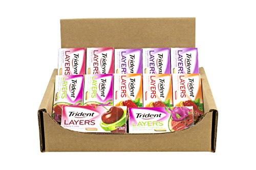 TRIDENT Layers Gum Variety Assortment 12 Pack (4 Flavors)