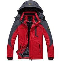 [Patrocinado] Wantdo chaqueta de esquí, de lana. impermeable, para la montaña - Impermeable resistente al viento