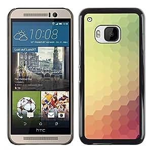 Paccase / SLIM PC / Aliminium Casa Carcasa Funda Case Cover para - Pastel Teal Polygon Hexagon - HTC One M9