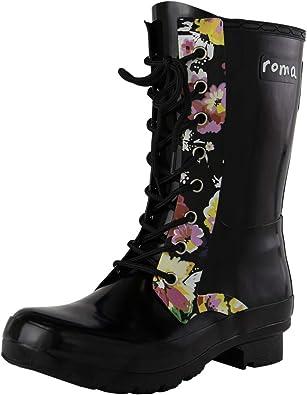 EPAGA Short Lace-Up Rain Boots