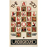 London Underground - The Zoo Alphabet 1928 - LU065 Satin Paper A2 Size