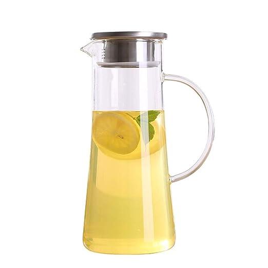 JKAD Jarra de Vidrio Jarras de café y té Agua fría Gran Capacidad ...