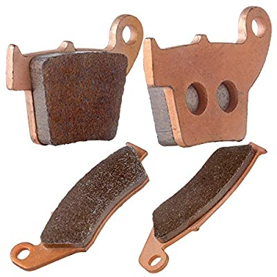 ECCPP Front and Rear Sintered Brake Pads Fits Honda CR125R CR250R CRF450R FA185 FA346: Automotive