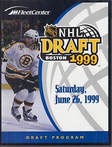 1999 NHL Draft Program Boston Fleet Center 6/26 1999