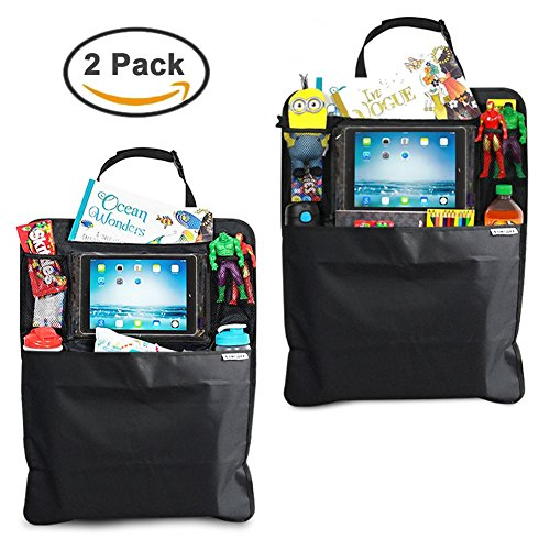 Car Backseat Organizer-SUMGOTT Touch Screen Pocket for Android & iOS Tablets Multipurpose Durable Waterproof Back...