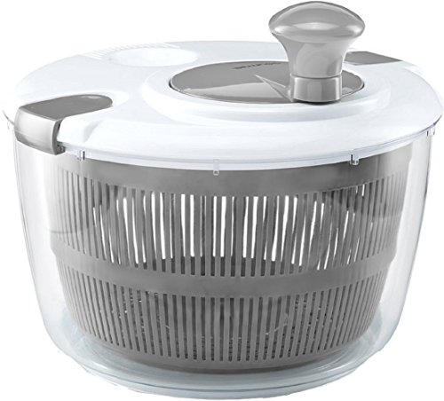 Gadgets Salad Spinner (Gourmia GSA9240 Jumbo Salad Spinner – Manual Lettuce Dryer With Crank Handle & Locking Lid, BPA Free and Top Rack Dishwasher Safe)