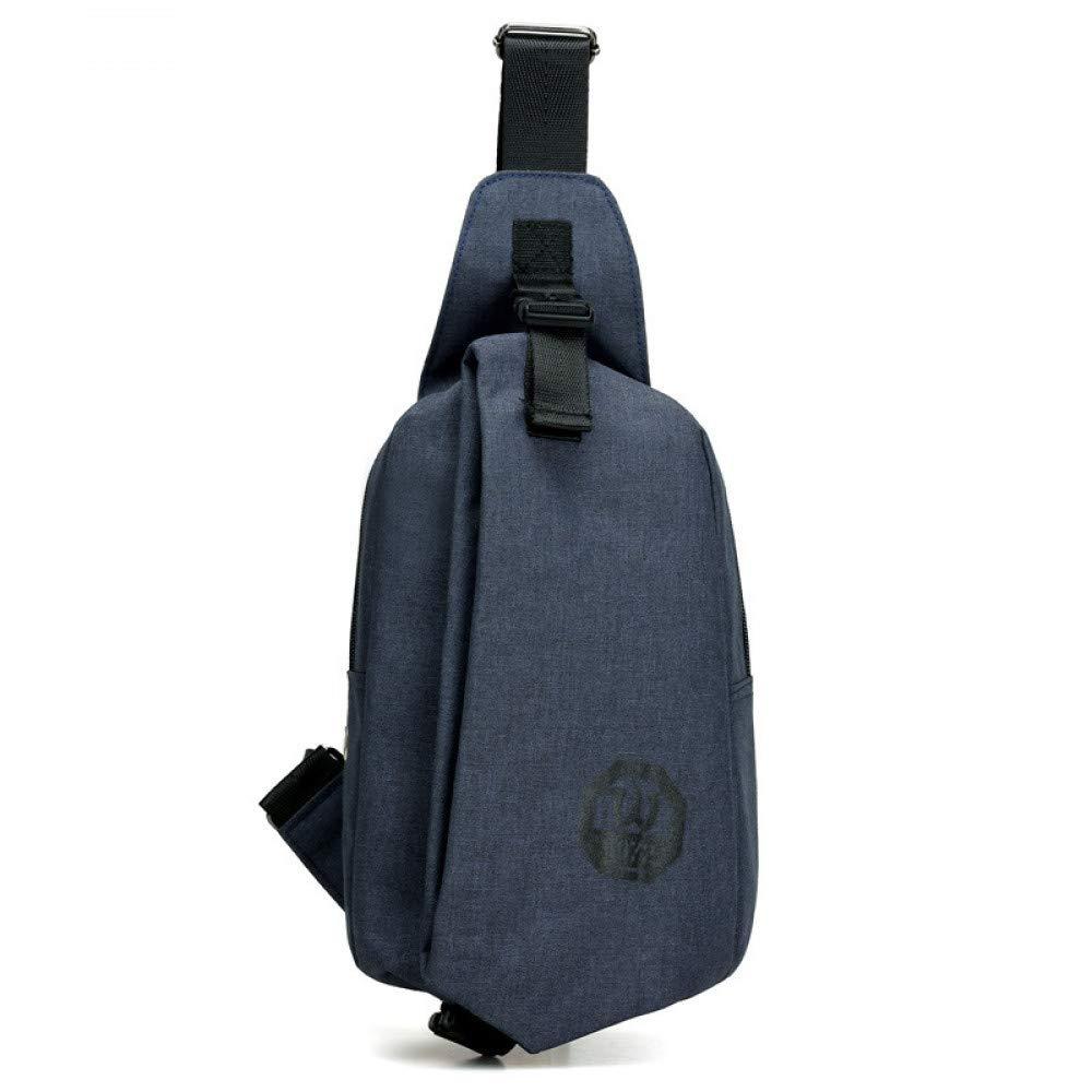 Chest bag riding mens Messenger bag mens shoulder bag casual sports small backpack chest bag blue