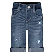 Levi's Boys' Regular Fit Jeans Grow with Me Skinny Fit Jeans, Vintage Waters, 6/9M