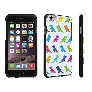 DuroCase ? Apple iPhone 6 Plus - 5.5 inch Hard Case Black - (Cute Dinosaurs)