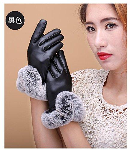 Generic new_ winter _days_Korean_ leather _full_touch_screen_ glove gloves women girls _Outdoor_Cycling_warm_plus_velvet_ glove