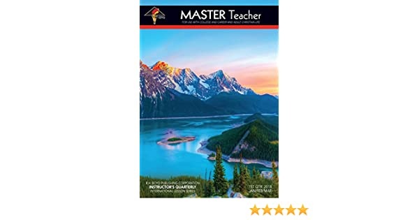 Master Teacher 1st Qtr 2018 Sunday School Kindle Edition By