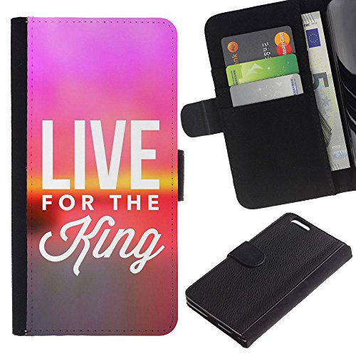 EuroCase - Apple Iphone 6 PLUS 5.5 - LIVE FOR THE KING - Cuir PU Coverture Shell Armure Coque Coq Cas Etui Housse Case Cover
