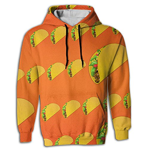 Taco Pattern Men's Sweatshirt 3D Print Hoodies With Pockets Pullover Hooded
