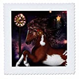 3dRose Heike Köhnen Design Animal Horse - Wonderful wild horse, steampunk elements - 20x20 inch quilt square (qs_262352_8)