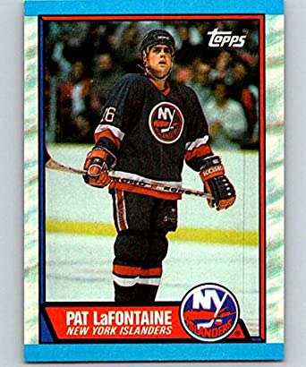 d24b3a8b2 Amazon.com  1989-90 Topps  60 Pat LaFontaine NY Islanders NHL Hockey ...