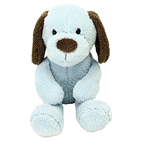 Sweet Sprouts - PUPPY DOG PLUSH Blue Brown - Blue Puppy Plush