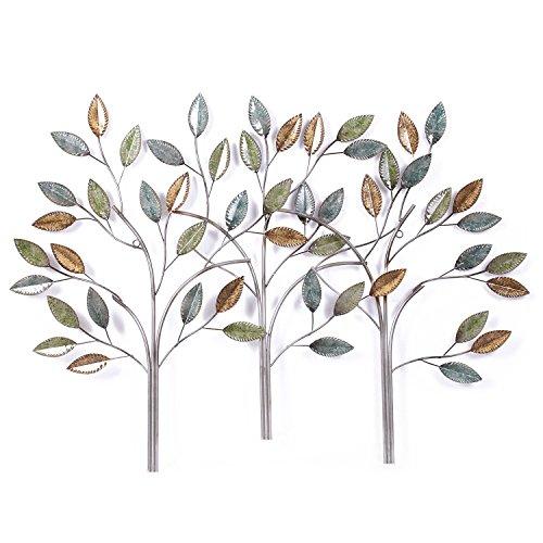 (Asense Tree Leaf Metal Wall Art Sculptures Home Decor Life)
