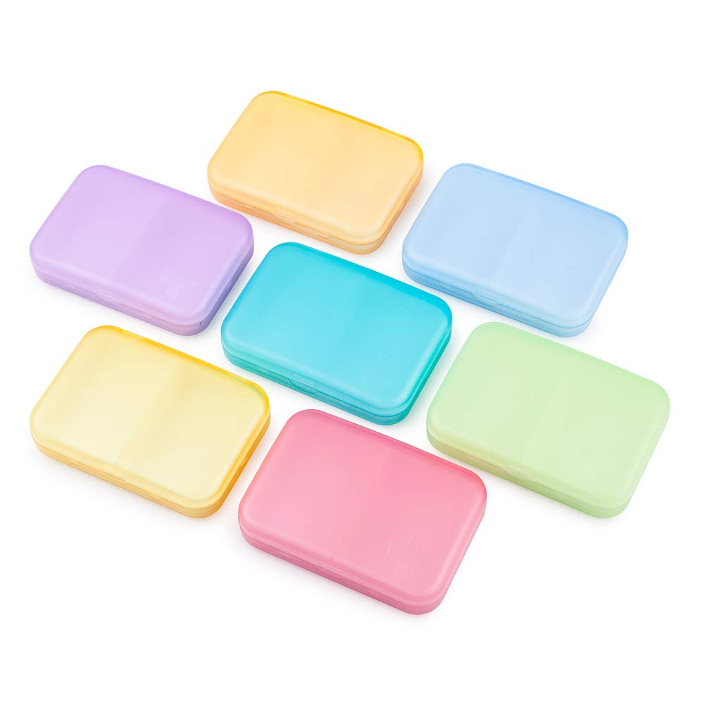 BUG HULL Pill Organizer (2 Times a Day), Extra Large Weekly AM/PM Pill Case, Pill Box 7 Days for Pills/Vitamin / Fish Oil/Supplements - Rainbow by BUG HULL (Image #6)