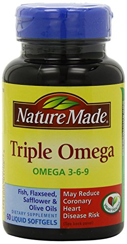 Nature Made Triple Omega, Liquid Softgels, 60 CT (PACK OF 5)
