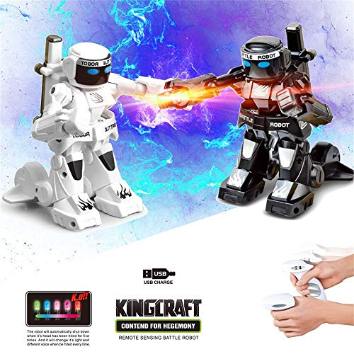 Rucan 2PC RC Battle Boxing Robot/Toys, Remote Control 2.4G Humanoid Fighting Robot