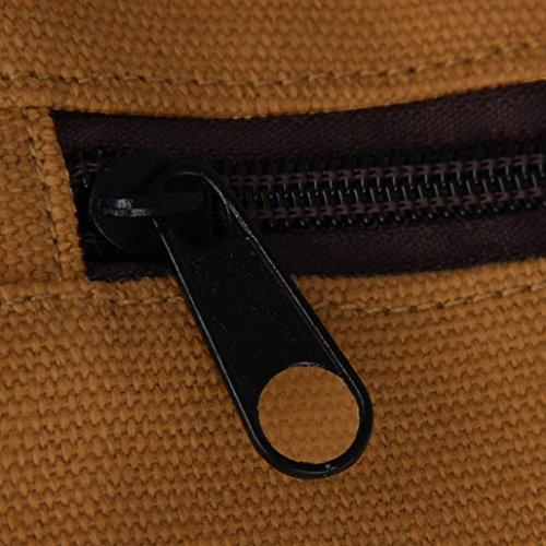 Bolso marrón negro Bandolera Tela Malloom Lona de para de Hombre pHw7Oq7S