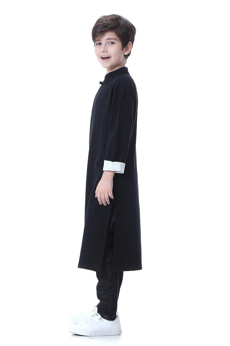 0e9fbb9bd Amazon.com: Bitablue Boys Cotton/linen Chinese Traditional Long Gown:  Clothing