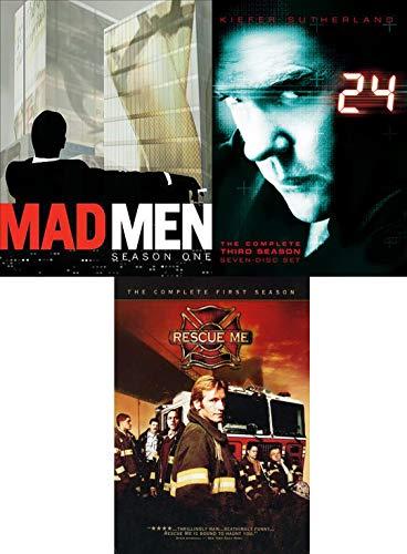 Ego-driven Rescue Me & Mad Men Advertising AMC + 24 Action Jack Bauer DVD TV Series Mega Man Pack