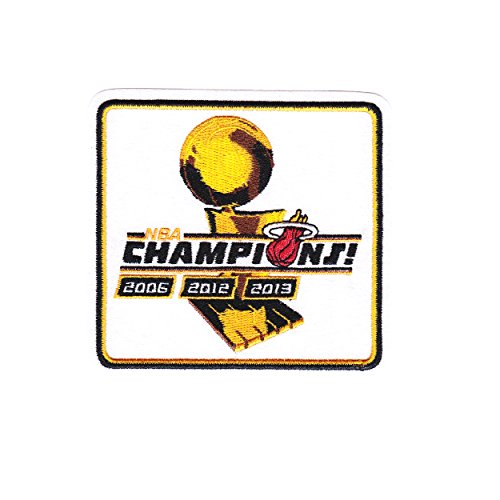 National Emblem Miami Heat 2012 and 2013 NBA Finals Champions Official NBA Patch by National Emblem