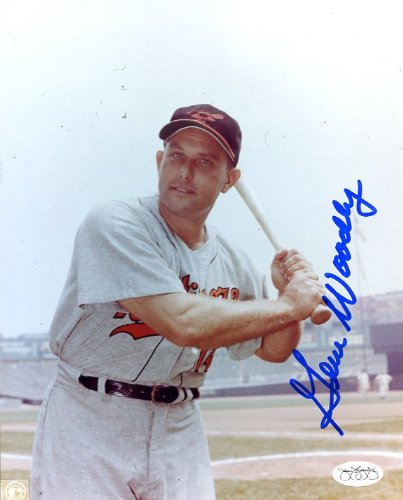 Gene Woodling (D.) Autographed/ Original Signed 8x10 Color Photo Showing Him in a Baltimore Orioles Uniform - JSA Authentication Sticker