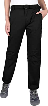 DISHANG Women's Convertible Hiking Pants Lightweight Durable Zip Off Cargo Pants with Zipped Pockets
