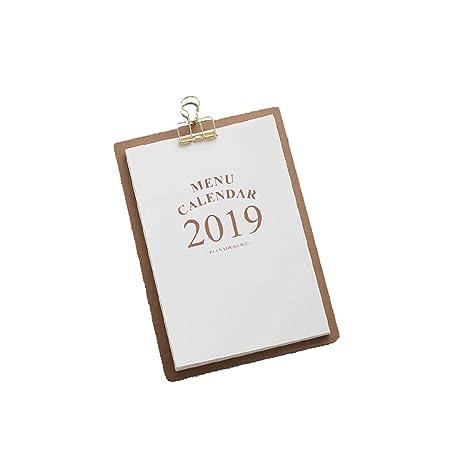 Calendario Calendarios de Escritorio Calendarios d 2019 Estilo de ...