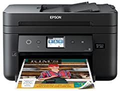 Powered by PrecisionCore printing technology, The workforce WF-2860 delivers laser-quality performance. Versatile, fast and compact, this space-saving all-in-one includes a 150-sheet paper capacity and 30-page auto document feeder, so you'll ...