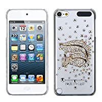 Asmyna Gold Squirrel Crystal 3D Diamante Back Protector Cover with Package for iPod touch 5