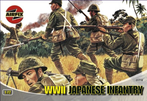 Airfix A01718 1:72 Scale Japanese Infantry Figures Classic Kit Series 1 (Scale Men)