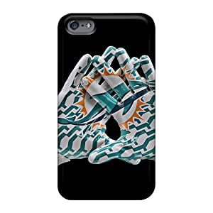 Shockproof Hard Phone Case For Apple Iphone 6s Plus With Provide Private Custom Realistic Miami Dolphins Series Allbestcases