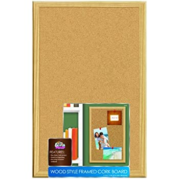 Board Dudes 11 x 17 Inches Wood Style Framed Cork Board (9160)
