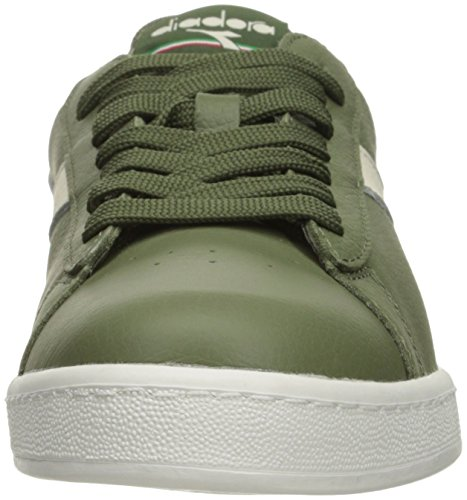 Diadora Mens Game L Low Waxed Court Shoe Olivine/White/Olivine lr2rv