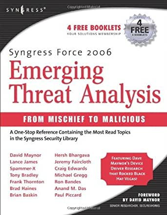 Amazon.com: Syngress Force Emerging Threat Analysis: From Mischief to