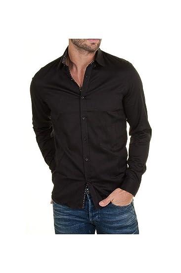 Joe Retro Chemise Swan Noir Homme - Couleur - Noir, Taille - S ... 0a0420eca403
