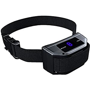 [New Version] Bark Collar w/9 Sensitivity Levels - SMART Detection Dual Anti-Barking Modes: Beep+Vibration/Shock for Small, Medium, Large Dogs. Waterproof. Advanced No-Bark Training & Control System