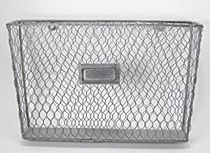 Liza Metal Single File Folder Holder - Chicken Wire Off White