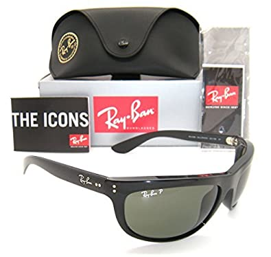 6da33148d8 Image Unavailable. Image not available for. Color  Ray-Ban RB 4089 Balorama  601 58 62mm Black Frame Green Polarized